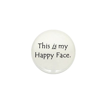 Happy Face Mini Button