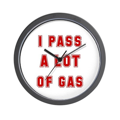 I PASS A LOT OF GAS Wall Clock