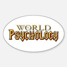World of Psychology Oval Decal