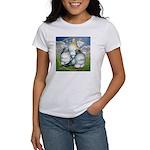 Owl Pigeons In Field Women's T-Shirt