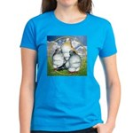 Owl Pigeons In Field Women's Dark T-Shirt