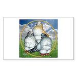 Owl Pigeons In Field Rectangle Sticker 50 pk)