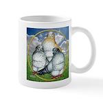 Owl Pigeons In Field Mug