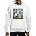 Owl Pigeons In Field Hooded Sweatshirt
