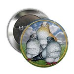 "Owl Pigeons In Field 2.25"" Button (100 pack)"