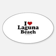 I Love Laguna Beach ~ Oval Decal