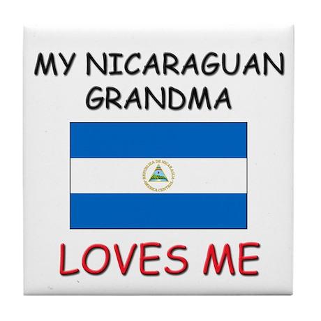 My Nicaraguan Grandma Loves Me Tile Coaster