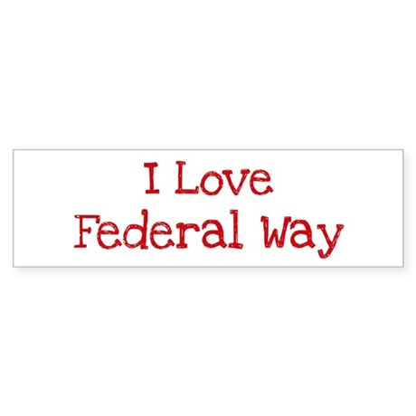 I love Federal Way Bumper Sticker (50 pk)
