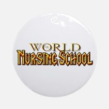 World of Nursing School Ornament (Round)