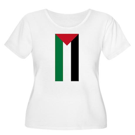 Palestinian Flag Women's Plus Size Scoop Neck T-Sh