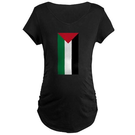 Palestinian Flag Maternity Dark T-Shirt