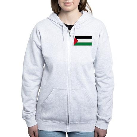 Flag of Palestine Women's Zip Hoodie