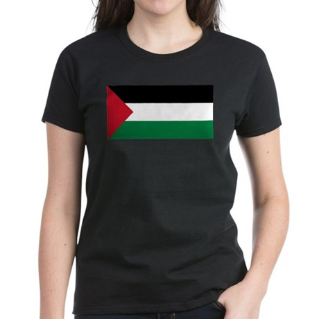 Flag of Palestine Women's Dark T-Shirt
