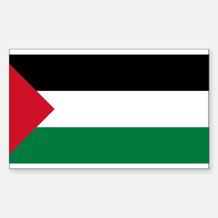 Flag of Palestine Rectangle Decal