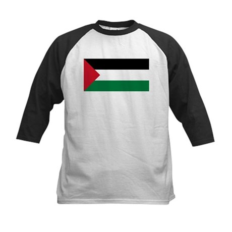 Flag of Palestine Kids Baseball Jersey