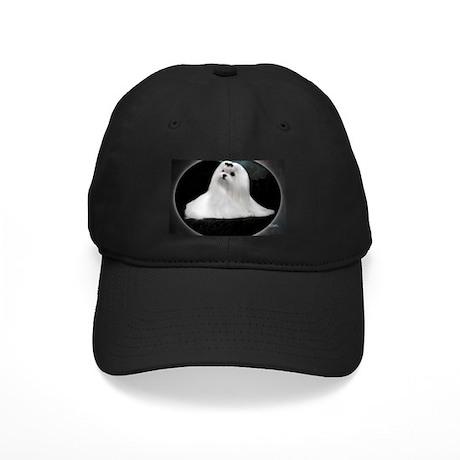 Maltese Dog Black Cap