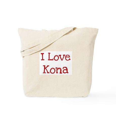 I love Kona Tote Bag