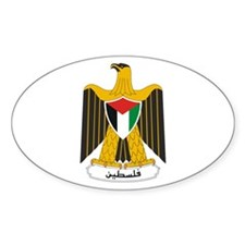 Palestinian Coat of Arms Oval Decal