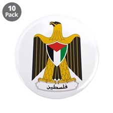 """Palestinian Coat of Arms 3.5"""" Button (10 pack)"""