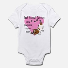 Jack Russell Terrier Pawprints Infant Creeper