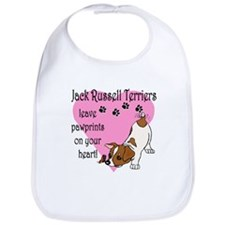 Jack Russell Terrier Pawprints Bib