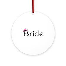 Country Bride Ornament (Round)