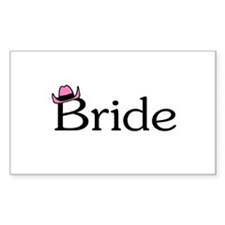 Country Bride Rectangle Decal