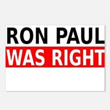 Ron Paul Was Right Postcards (Package of 8)