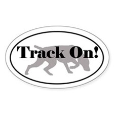 Tracking Sticker - Weimaraner Track On!