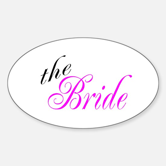The Bride Oval Decal