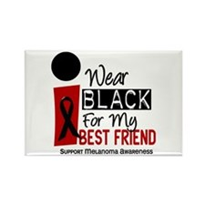 I Wear Black For My Best Friend 9 Rectangle Magnet