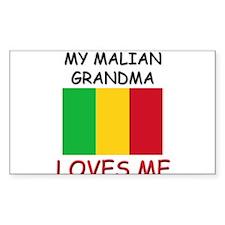My Malian Grandma Loves Me Rectangle Decal