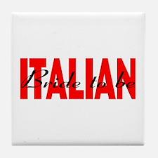 Italian Bride Tile Coaster