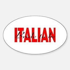 Italian Bride Oval Decal