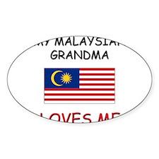 My Malaysian Grandma Loves Me Oval Decal