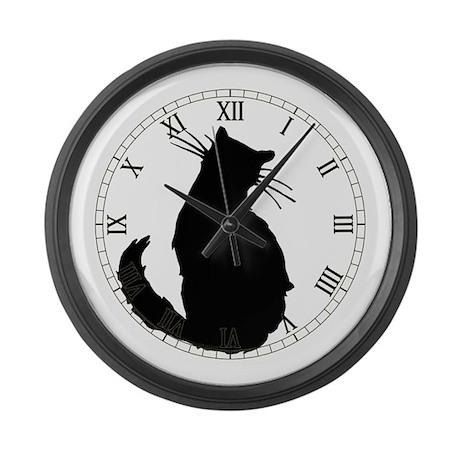 Black Cat Classic Large Wall Clock