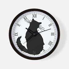 Black Cat Classic Wall Clock