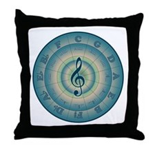 Colorful Circle of Fifths Throw Pillow