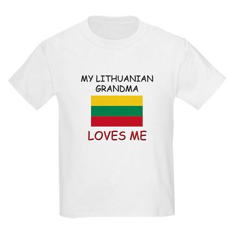 My Lithuanian Grandma Loves Me Kids Light T-Shirt
