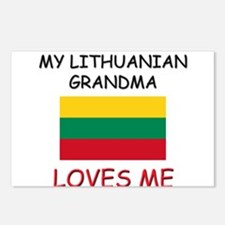 My Lithuanian Grandma Loves Me Postcards (Package