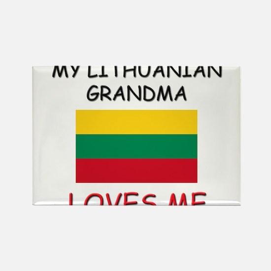 My Lithuanian Grandma Loves Me Rectangle Magnet