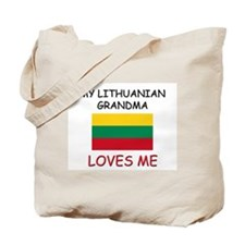 My Lithuanian Grandma Loves Me Tote Bag