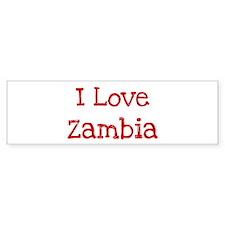 I love Zambia Bumper Bumper Sticker