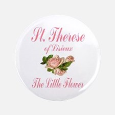 "St. Therese of Lisieux 3.5"" Button"