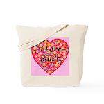 I Love Santa Tote Bag