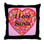 I Love Santa Throw Pillow