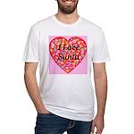 I Love Santa Fitted T-Shirt