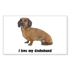 Dachshund Lover Rectangle Sticker