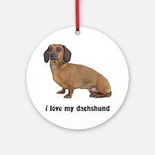 Dachshund Lover Ornament (Round)