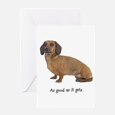 Good Dachshund Greeting Card
